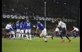 Action from an English Premier League game between Tottenham Hotspur and Everton at Goodison Park in Liverpool, England, on Sunday, December 23, 2018.